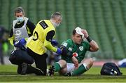14 February 2021; Cian Healy of Ireland is attended to prior to leaving the pitch with a blood injury during the Guinness Six Nations Rugby Championship match between Ireland and France at the Aviva Stadium in Dublin. Photo by Brendan Moran/Sportsfile