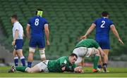 14 February 2021; Cian Healy of Ireland after recieveing a head injury during the Guinness Six Nations Rugby Championship match between Ireland and France at the Aviva Stadium in Dublin. Photo by Ramsey Cardy/Sportsfile