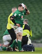 14 February 2021; Cian Healy of Ireland leaves the pitch with a blood injury during the Guinness Six Nations Rugby Championship match between Ireland and France at the Aviva Stadium in Dublin. Photo by Ramsey Cardy/Sportsfile