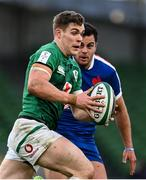 14 February 2021; Garry Ringrose of Ireland during the Guinness Six Nations Rugby Championship match between Ireland and France at the Aviva Stadium in Dublin. Photo by Brendan Moran/Sportsfile