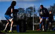 15 February 2021; Ross Molony, right, and Jack Dunne during Leinster Rugby squad training at UCD in Dublin. Photo by Ramsey Cardy/Sportsfile