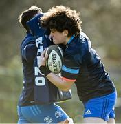 15 February 2021; Scott Penny, left, and Alex Soroka during Leinster Rugby squad training at UCD in Dublin. Photo by Ramsey Cardy/Sportsfile