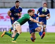 14 February 2021; Gabin Villière of France in action against Garry Ringrose of Ireland uring the Guinness Six Nations Rugby Championship match between Ireland and France at the Aviva Stadium in Dublin. Photo by Brendan Moran/Sportsfile