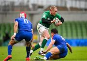 14 February 2021; Keith Earls of Ireland during the Guinness Six Nations Rugby Championship match between Ireland and France at the Aviva Stadium in Dublin. Photo by Ramsey Cardy/Sportsfile