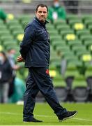 14 February 2021; France attack coach Laurent Labit prior to the Guinness Six Nations Rugby Championship match between Ireland and France at the Aviva Stadium in Dublin. Photo by Brendan Moran/Sportsfile