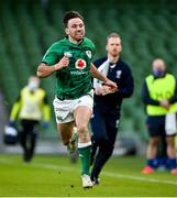 14 February 2021; Hugo Keenan of Ireland during the Guinness Six Nations Rugby Championship match between Ireland and France at the Aviva Stadium in Dublin. Photo by Ramsey Cardy/Sportsfile