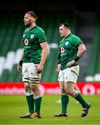 14 February 2021; Iain Henderson, left, and Cian Healy of Ireland during the Guinness Six Nations Rugby Championship match between Ireland and France at the Aviva Stadium in Dublin. Photo by Ramsey Cardy/Sportsfile