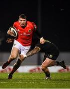 9 January 2021; Chris Farrell of Munster in action against Sammy Arnold of Connacht during the Guinness PRO14 match between Connacht and Munster at Sportsground in Galway. Photo by Sam Barnes/Sportsfile