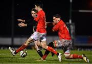 9 January 2021; Jack Carty of Connacht performs a grubber kick under pressure from Conor Murray, left, and Gavin Coombes of Munster during the Guinness PRO14 match between Connacht and Munster at Sportsground in Galway. Photo by Sam Barnes/Sportsfile