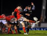 9 January 2021; Conor Murray of Munster performs a box kick under pressure from Gavin Thornbury of Connacht during the Guinness PRO14 match between Connacht and Munster at Sportsground in Galway. Photo by Sam Barnes/Sportsfile