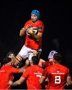 9 January 2021; Tadhg Beirne of Munster wins possession from a line-out during the Guinness PRO14 match between Connacht and Munster at Sportsground in Galway. Photo by Sam Barnes/Sportsfile