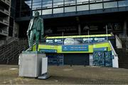 16 February 2021; A general view of the statue of Michael Cusack and the GAA Museum at Croke Park in Dublin. Photo by Brendan Moran/Sportsfile