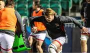 19 February 2021; Jordi Murphy of Ulster warms up ahead of the Guinness PRO14 match between Glasgow Warriors and Ulster at Scotstoun Stadium in Glasgow, Scotland. Photo by Alan Harvey/Sportsfile