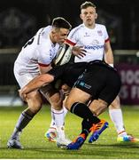 19 February 2021; James Hume of Ulster is tackled by Rob Harley of Glasgow Warriors during the Guinness PRO14 match between Glasgow Warriors and Ulster at Scotstoun Stadium in Glasgow, Scotland. Photo by Alan Harvey/Sportsfile
