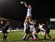 19 February 2021; Nick Timoney of Ulster wins possession of a line-out during the Guinness PRO14 match between Glasgow Warriors and Ulster at Scotstoun Stadium in Glasgow, Scotland. Photo by Alan Harvey/Sportsfile