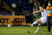 19 February 2021; John Cooney of Ulster kicks a conversion during the Guinness PRO14 match between Glasgow Warriors and Ulster at Scotstoun Stadium in Glasgow, Scotland. Photo by Alan Harvey/Sportsfile