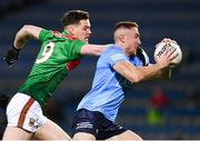19 December 2020; Paddy Small of Dublin is tackled by Matthew Ruane of Mayo during the GAA Football All-Ireland Senior Championship Final match between Dublin and Mayo at Croke Park in Dublin. Photo by Ray McManus/Sportsfile