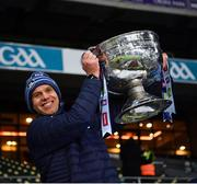 19 December 2020; Dublin's Darren Daly lifts the Sam Maguire after the GAA Football All-Ireland Senior Championship Final match between Dublin and Mayo at Croke Park in Dublin. Photo by Ray McManus/Sportsfile