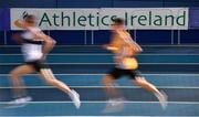 20 February 2021; A general view during the Men's 3000m during day one of the Irish Life Health Elite Athlete Indoor Micro Meet at Sport Ireland National Indoor Arena at the Sport Ireland Campus in Dublin. Photo by Sam Barnes/Sportsfile