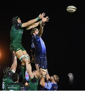 20 February 2021; Ultan Dillane of Connacht and Josh Turnbull of Cardiff Blues compete for possession in a line-out during the Guinness PRO14 match between Connacht and Cardiff Blues at The Sportsground in Galway. Photo by Ramsey Cardy/Sportsfile