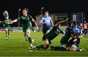 20 February 2021; Gavin Thornbury of Connacht recovers possession on his try line during the Guinness PRO14 match between Connacht and Cardiff Blues at The Sportsground in Galway. Photo by Ramsey Cardy/Sportsfile