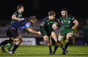 20 February 2021; John Porch of Connacht is tackled by Josh Turnbull of Cardiff Blues during the Guinness PRO14 match between Connacht and Cardiff Blues at The Sportsground in Galway. Photo by Piaras Ó Mídheach/Sportsfile