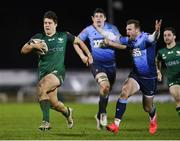 20 February 2021; Dave Heffernan of Connacht evades the tackle of Owen Lane of Cardiff Blues during the Guinness PRO14 match between Connacht and Cardiff Blues at The Sportsground in Galway. Photo by Ramsey Cardy/Sportsfile
