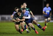 20 February 2021; Dave Heffernan of Connacht is tackled by Jason Tovey, left, and Owen Lane of Cardiff Blues during the Guinness PRO14 match between Connacht and Cardiff Blues at The Sportsground in Galway. Photo by Ramsey Cardy/Sportsfile