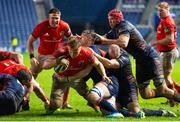 20 February 2021; Gavin Coombes of Munster dives over to score his side's third try during the Guinness PRO14 match between Edinburgh and Munster at BT Murrayfield Stadium in Edinburgh, Scotland. Photo by Paul Devlin/Sportsfile