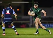 20 February 2021; Tom Daly of Connacht in action against Lloyd Williams of Cardiff Blues during the Guinness PRO14 match between Connacht and Cardiff Blues at The Sportsground in Galway. Photo by Piaras Ó Mídheach/Sportsfile