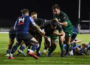 20 February 2021; Jarrad Butler of Connacht on his way to scoring his side's third try during the Guinness PRO14 match between Connacht and Cardiff Blues at The Sportsground in Galway. Photo by Ramsey Cardy/Sportsfile