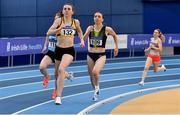 21 February 2021; Louise Shanahan of Leevale AC, Cork, on her way to finishing second in the Women's 800m during day two of the Irish Life Health Elite Athlete Indoor Micro Meet at Sport Ireland National Indoor Arena at the Sport Ireland Campus in Dublin. Photo by Sam Barnes/Sportsfile
