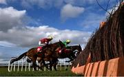 21 February 2021; Tiger Roll, with Keith Donoghue up, left, approach the last on their first time round during the Ladbrokes Ireland Boyne hurdle at Navan Racecourse in Meath. Photo by David Fitzgerald/Sportsfile