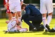 21 February 2021; Ronan Coughlan of St Patrick's Athletic receives medical attention during the pre-season friendly match between Cork City and St Patrick's Athletic at O'Shea Park in Blarney, Cork. Photo by Eóin Noonan/Sportsfile