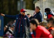 21 February 2021; St Patrick's Athletic head coach Stephen O'Donnell, left, with first team coach Alan Mathews during the pre-season friendly match between Cork City and St Patrick's Athletic at O'Shea Park in Blarney, Cork. Photo by Eóin Noonan/Sportsfile