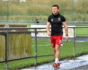 21 February 2021; Steven Beattie of Cork City makes his way back to the dressing room prior to the pre-season friendly match between Cork City and St Patrick's Athletic at O'Shea Park in Blarney, Cork. Photo by Eóin Noonan/Sportsfile
