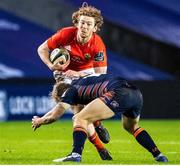 20 February 2021; Ben Healy of Munster in action during the Guinness PRO14 match between Edinburgh and Munster at BT Murrayfield Stadium in Edinburgh, Scotland. Photo by Paul Devlin/Sportsfile
