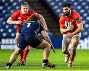 20 February 2021; Damien De Allende of Munster in action during the Guinness PRO14 match between Edinburgh and Munster at BT Murrayfield Stadium in Edinburgh, Scotland. Photo by Paul Devlin/Sportsfile