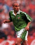 29 May 1996; Curtis Fleming of Republic of Ireland during the International Friendly match between Republic of Ireland and Portugal at Lansdowne in Dublin. Photo by Brendan Moran/Sportsfile