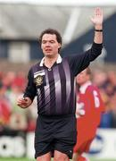 1 November 1998; Referee Jim O'Neill during the Harp Lager National League Premier Division match between Cork City and Shelbourne at Turners Cross in Cork. Photo by Matt Browne/Sportsfile