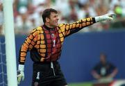 18 June 1994; Packie Bonner of Republic of Ireland during the FIFA World Cup 1994 Group E match between Republic of Ireland and Italy at Giants Stadium in New Jersey, USA. Photo by Ray McManus/Sportsfile