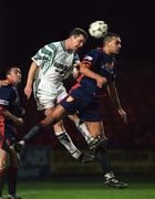 13 November 1996; Bo McKeever of Bray Wanderers in action against Paul Osam of St Patrick's Athletic during the Bord Gáis National League Premier Division match between Bray Wanderers and St Patrick's Athletic at Carlisle Grounds in Bray, Wicklow. Photo by David Maher/Sportsfile