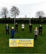 26 February 2021; The GAA President's awards winners, from left, Sean Dempsey, Betty Moore, PJ Dempsey, Ann Smith, Michael Dempsey, Margaret Farrelly and Martin Dempsey at St Joseph's GAA club in Milltown, Laois. Photo by Harry Murphy/Sportsfile