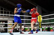 26 February 2021; Aoife O'Rourke of Ireland, right, and Naomi Graham of United States during their women's middleweight 75kg semi-final bout at the AIBA Strandja Memorial Boxing Tournament in Sofia, Bulgaria. Photo by Alex Nicodim/Sportsfile