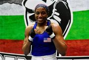26 February 2021; Naomi Graham of United States following victory over Aoife O'Rourke of Ireland in their women's middleweight 75kg semi-final bout at the AIBA Strandja Memorial Boxing Tournament in Sofia, Bulgaria. Photo by Alex Nicodim/Sportsfile