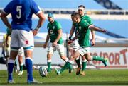 27 February 2021; Jonathan Sexton of Ireland kicks a penalty during the Guinness Six Nations Rugby Championship match between Italy and Ireland at Stadio Olimpico in Rome, Italy. Photo by Roberto Bregani/Sportsfile