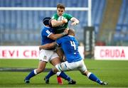 27 February 2021; Garry Ringrose of Ireland is tackled by Marco Lazzaroni of Italy during the Guinness Six Nations Rugby Championship match between Italy and Ireland at Stadio Olimpico in Rome, Italy. Photo by Roberto Bregani/Sportsfile