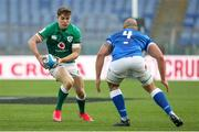 27 February 2021; Garry Ringrose of Ireland in action against Marco Lazzaroni of Italy during the Guinness Six Nations Rugby Championship match between Italy and Ireland at Stadio Olimpico in Rome, Italy. Photo by Roberto Bregani/Sportsfile