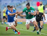 27 February 2021; James Lowe of Ireland is tackled by Jacopo Trulla of Italy during the Guinness Six Nations Rugby Championship match between Italy and Ireland at Stadio Olimpico in Rome, Italy. Photo by Roberto Bregani/Sportsfile