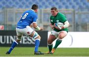 27 February 2021; Tadhg Furlong of Ireland in action against Sebastian Negri of Italy during the Guinness Six Nations Rugby Championship match between Italy and Ireland at Stadio Olimpico in Rome, Italy. Photo by Roberto Bregani/Sportsfile